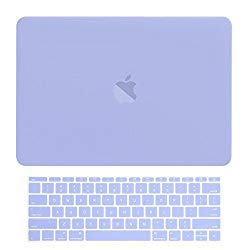 TOP CASE – MacBook Pro 13 Without Touch Bar (Release 2017 & 2016) 2 in 1 Bundle, Rubberized Hard Case + Matching Color Keyboard Cover for MacBook Pro 13-inch A1708 Without Touch Bar – Serenity Blue