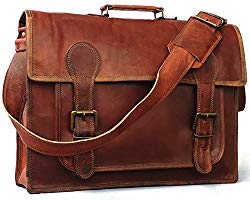 Vintage Couture 18 Inch Genuine Business Leather Laptop Messenger Bag