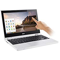 Flagship Acer Premium R11 11.6″ Convertible 2-in-1 HD IPS Touchscreen Chromebook – Intel Quad-Core Celeron N3160 1.6GHz, 4GB RAM, 32GB SSD, WLAN, Bluetooth, Webcam, HDMI, USB 3.0, Chrome OS – White