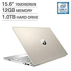 2018 Newest HP Pavilion Business Flagship Laptop PC 15.6″ HD Touchscreen Display 8th Gen Intel i5-8250U Quad-Core Processor 12GB DDR4 RAM 1TB HDD Backlit-Keyboard Bluetooth B&O Audio Windows 10-Gold