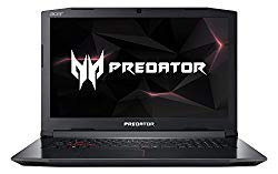 Acer Predator Helios 300 PH317-52-77A4 Gaming Laptop, Intel Core i7-8750H, GeForce GTX 1060 Overclockable Graphics, 17.3″ 144Hz Full HD, 16GB DDR4, 256GB PCIe NVMe SSD, 1TB HDD, VR Ready