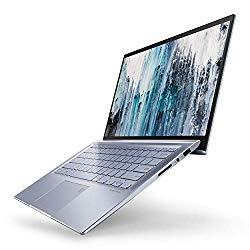 "ASUS ZenBook 14 Ultra Thin & Light Laptop, 4-Way NanoEdge 14"" Full HD, Intel Core i7-8565U, 8GB DDR4 RAM, 512GB NVMe PCIe SSD, Wi-Fi 5, Windows 10, Silver Blue, UX431FA-ES74"
