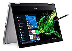 Acer Spin 3 Convertible Laptop, 14″ Full HD IPS Touch, 8th Gen Intel Core i7-8565U, 16GB DDR4, 512GB PCIe NVMe SSD, Backlit KB, Fingerprint Reader, Rechargeable Active Stylus, SP314-53N-77AJ