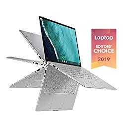 Asus Chromebook Flip C434TA-DS384T 2 In 1 Laptop, 14″ Touchscreen FHD 4-Way NanoEdge, Intel Core M3-8100Y Processor, 8GB RAM, 64GB eMMC Storage, Backlit KB, Silver, Chrome OS