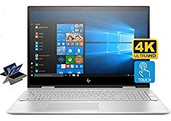 HP Envy X360 15t Convertible 2-in-1 Premium Home and Business Laptop (Intel 8th Gen i7-8550U, 32GB RAM, 1TB HDD + 512GB PCIe SSD, 15.6″ 4K UHD (3840×2160) Touch, HP Pen, Bluetooth, Win 10 Pro)