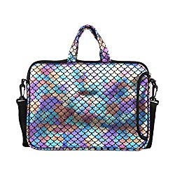 11.6-Inch Laptop Shoulder Messenger Carrying Bag Case Sleeve For 11″ 11.6″ 12″ 12.5 inch Macbook/Notebook/Ultrabook/Chromebook, Mermaid Scale (Colorful)