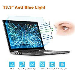 2 Pack 13.3″ Laptop Screen Protector -Blue Light Filter, Eye Protection Blue Light Blocking Anti Glare Screen Protector for All 13.3″ 16:9 Laptop (!!! Diagonal Length 13.3″, Not Include The Bezel)