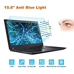 2-Pack 15.6 Inch Laptop Screen Protector -Blue Light and Anti Glare Filter, FORITO Eye Protection Blue Light Blocking & Anti Glare Screen Protector for 15.6″ with 16:9 Aspect Ratio Laptop