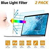 2PC 15.6 in Anti Blue Light Laptop Screen Protector, Anti Glare Filter Film Eye Protection Blue Light Blocking Screen Protector for 15.6″ Display 16:9