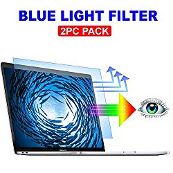 2PC Pack Blue Light Blocking Screen Protector for MacBook Pro 13 inch with or Without Touch Bar 2016-2019 Model A1706 A1708 A1989