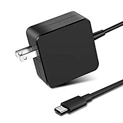 65W/61W USB Type C Power Adapter Charger for Apple MacBook/Pro, Lenovo, ASUS, Acer, Dell, Xiaomi Air, Huawei Matebook, HP Spectre, Thinkpad and Any Other Laptops or Smart Phones with The USB C
