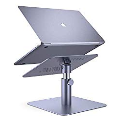 Adjustable Laptop Stand, Lamicall Laptop Riser : Multi-Angle Height Adjustable 360°Rotation Computer Notebook Stand Desktop Holder Compatible with Apple MacBook, Mac, Air, Pro, Dell XPS, HP(10-17″)