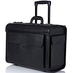 Alpine Swiss Rolling 17″ Laptop Briefcase on Wheels Attache Lawyers Case Legal Size