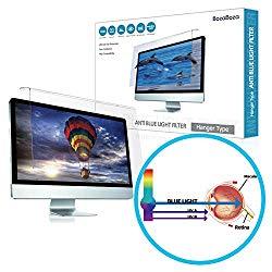 (BozaBoza) Acrylic Anti Blue Light Screen Protector 24″ Easy On/Off (for 24″ Universial Diagonally Measured 16 : 9/16 : 10 Aspect Ratio) Filtering Out Blue Light for Laptop, Notebook, Monitor