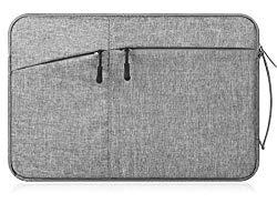 Canvas Laptop/Tablet Sleeve Handbag for Samsung 12.2″Chromebook Plus / 12.3″Chromebook Pro/Galaxy Book 12/11.6″ Chromebook 3 / XIDU PhilBook/Google Pixel Slate/Pixelbook (Deep Grey)