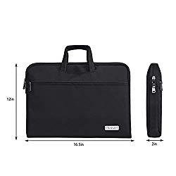 changel Laptop Bag, 15.6 inch Laptop Case, Briefcase Messenger Shoulder Bag for Men Women, College Students Business People Office Workers Professional Computer, Notebook, Table, MacBook Bag, Black