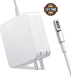 Compatible with Mac Book Air Charger, AC 45W Magsafe 1 L-Tip Power Adapter Replacement Charger Compatible with Mac Book Air 11/13 inch (Before Mid 2012)… (45W-L)