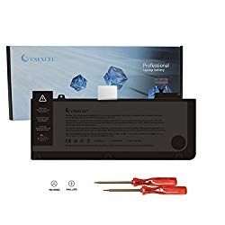 CSEXCEL New Laptop Replacement Battery for MacBook Pro 13″ A1322 A1278 (Mid 2009, Mid 2010, Early and Late 2011, Mid 2012 Version) Grade A Cell,10.95V 6000mah/65.5wh (A1322-01)