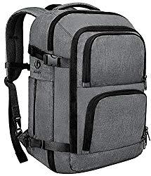 Dinictis 40L Flight Approved Carry on Travel Backpack, Weekender Bag – Dark Grey