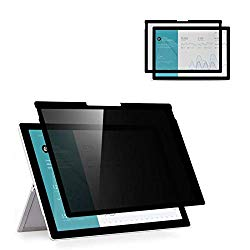 [ Fully Removable ] 12.3 inch Surface pro Privacy Screen Filter Protector Compatible with Microsoft Surface Pro7/ 6/5/4-High Clarity- Anti-Glare/Anti-Spy Filter