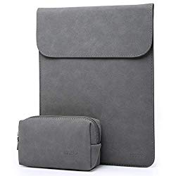 HYZUO 13 Inch Laptop Sleeve Case Compatible with 2019 2018 New MacBook Air 13 A1932/MacBook Pro 13 2016-2019/12.9 New iPad Pro 2018/Surface Pro 7 6 5 4/Dell XPS 13 with Small Bag, Faux Suede Leather