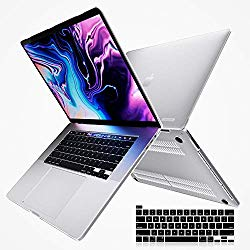 i-Blason Halo V2.0 Case for MacBook Pro 16 inch (2019 Release), Ultra Slim Translucent Hard Case Protective Clear Cover for New MacBook Pro 16″ with Touch Bar and Touch ID (Frost/Clear)