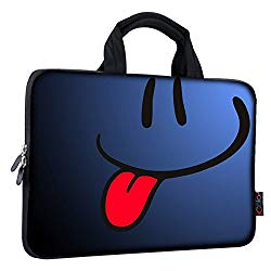 iColor Smile 14 15 15.4 15.6 inch Laptop Handle bag Computer Protect Case Pouch Holder Notebook Sleeve Neoprene Cover Soft Carring Travel Case for Dell Lenovo Toshiba HP Chromebook ASUS Acer ICB-05