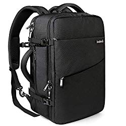"Inateck 40L Travel Backpack, Flight Approved Carry on Backpack Hand Luggage, Anti-Theft Business Laptop Rucksack Large Daypack Weekender Bag for 17"" Laptop – Black"