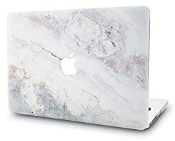 KECC Laptop Case for MacBook Pro 13″ (2019/2018/2017/2016) Plastic Hard Shell Cover A2159/A1989/A1706/A1708 Touch Bar (White Marble 2)