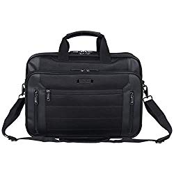 Kenneth Cole Reaction Keystone 1680d Polyester Dual Compartment 17″ Laptop Business Portfolio, Black