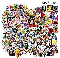 Kilmila Stickers [100pcs], Random Vinyl Anime Vinyl Sticker for Laptop Water Bottle Bike Car Motorcycle Bumper Luggage Skateboard Graffiti, Cool Animals Monsters Decals, Best Gift for Kids Children