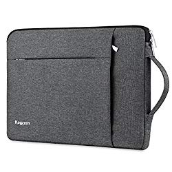 Kogzzen 14-15.6 Inch Laptop Sleeve Waterproof Shockproof Case Notebook Bag Compatible with MacBook Pro 15″/ Surface Book 2 15″, Ultrabook Chromebook Dell HP Lenovo Asus Acer Samsung – Gray