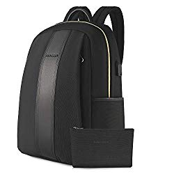 KROSER Laptop Backpack 15.6 Inch Fashion School Computer Backpack Water-Repellent Nylon Casual Daypack with USB Charging Port for Travel/Business/College/Women/Men-Black