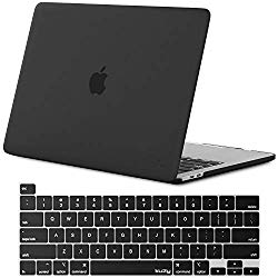 Kuzy – MacBook Pro 16 inch Case 2019 Release A2141 with Keyboard Cover Skin for New 16 inch MacBook Pro Case with Touch Bar Soft Touch Plastic Hard Shell – Black