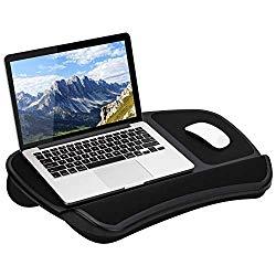 LapGear Original XL Laptop Lap Desk with Storage Pockets – Black – Style No. 45592 – US Patent No. D619,823