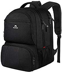 Lunch Backpack, Insulated Cooler Backpack Lunch Box Backpack for Men Women, 17 Inch Laptop Backpack with USB Charging Port Commuter Backpack for College School Work Office Travel, Black