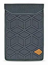Lymmax Laptop Sleeve 15.6 Inch, Shockproof Laptop Case Vertical Sleeve Bag with Zipper Pocket, Waterproof EVA Carrying Bag with Padded Handle – Dark Grey