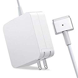 Mac Book Air Charger, AC 45W Magsafe 2 T-Tip Power Adapter Charger Replacement for MacBook Air 11/13 inch (MacBook Air After Mid 2012)