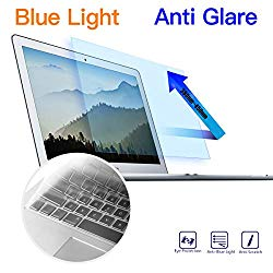 MacBook Air 13 Inch Anti Blue Light Screen Protector – Anti Glare Eye Protection Filter for 2010-2017 Old MacBook Air 13 Model A1369 A1466 with Ultra Thin Keyboard Cover Protector