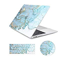 MacBook Air 13 inch Case,Arike Marble Design Slim Plastic Hard Case with Keyboard Cover & Mouse Pad Compatible for MacBook Air 13″ Old Version 2010-2017 (A1466 &A1369)