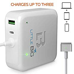 MacBook Pro Charger 60W Power Adapter Magsafe 2 T-tip Style Connector Replacement MacBook Pro Charger for Apple MacBook Pro Retina 11 inch / 13 inch from Late 2012 up to mid 2016 White