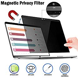 Magnetic Privacy Laptop Screen Filter for MacBook Pro 13″ and 2018 MacBook Air 13, Anti Glare & Anti Blue Light Privacy Screen Filter with Webcam Cover (pro13)