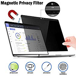 Magnetic Privacy Laptop Screen Filter for MacBook Pro 15 – Anti Glare & Anti Blue Light Privacy Screen Filter with Webcam Cover Compatible MacBook pro 15.4 inch (15.4in)