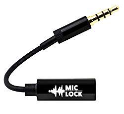 Mic-Lock with SOUNDPASS Microphone Blocker (2 Pack) – Signal Blocking Device 3.5mm for Laptops, Smartphones & Desktop Computers Security, Privacy, Counter-Surveillance – Hear Music No Eavesdropping