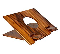 Mojopanda Handcrafted Teak Wood |Wooden| Laptop Stand For Computer Macbook Air Pro and iPad Pro 11-15 inch Best Men's And Women's Gifts Ideas