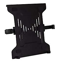 Mount-It! Laptop VESA Mount Tray   Laptop Holder Arm Mount Attachment   Vented Notebook Tray   Laptop Tray Clamp for Monitor Stand 75mm & 100mm VESA