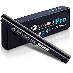 NinjaBatt Pro Laptop Battery for HP 776622-001 LA04 728460-001 752237-001 776906-001 TPN-Q130 TPN-Q132 HSTNN-LB5S HSTNN-UB5M HSTNN-UB5N HSTNN-IB6R LA03DF LA04DF – Samsung Cells – [4 Cells/2600mAh]