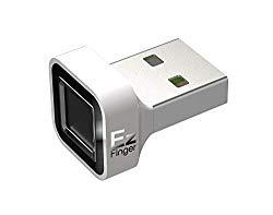 Octatco EzFinger [White] Fingerprint Reader USB Dongle for Windows 7,8,8.1 & 10 Hello Login, Sign-in, File encryption, Folder Lock, Biometric Scanner Sensor, Password-Free
