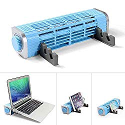 OImaster Laptop Cooling Pad with Adjustable Stand, Laptop Cooler 3-Speed Adjustable, USB Multi Function Laptop Cross-Flow Turbine Cooling Fan for Laptop Pad Tablet Phone