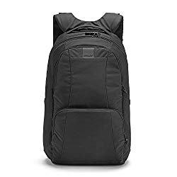 Pacsafe Metrosafe LS450 25 Liter Anti Theft Laptop Backpack – with Padded 15″ Laptop Sleeve, Adjustable Shoulder Straps, Patented Security Technology (Black)